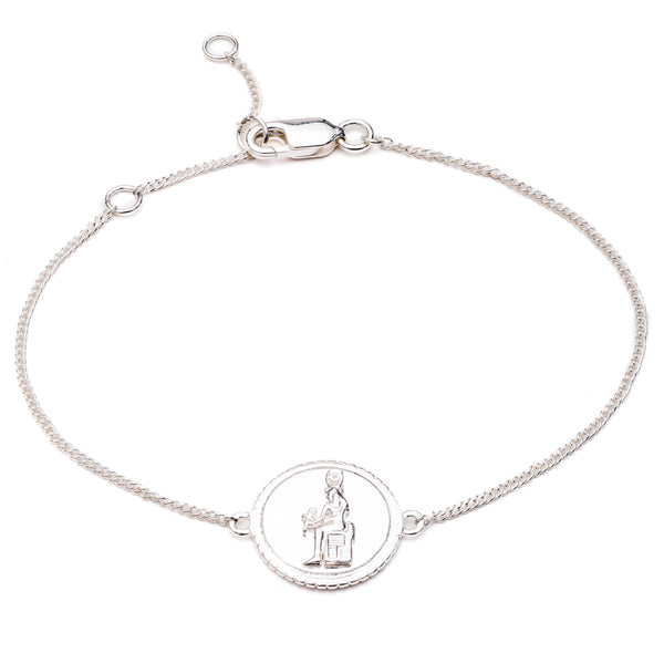 Queen of Revelry Coin Bracelet - Silver