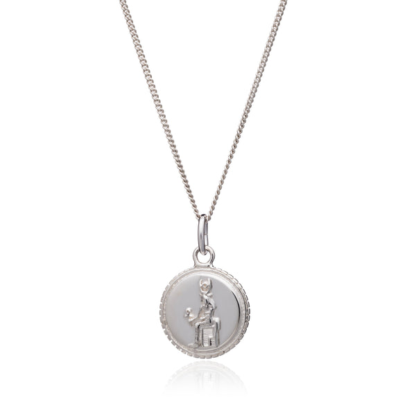 Queen of Revelry Coin Necklace - Silver