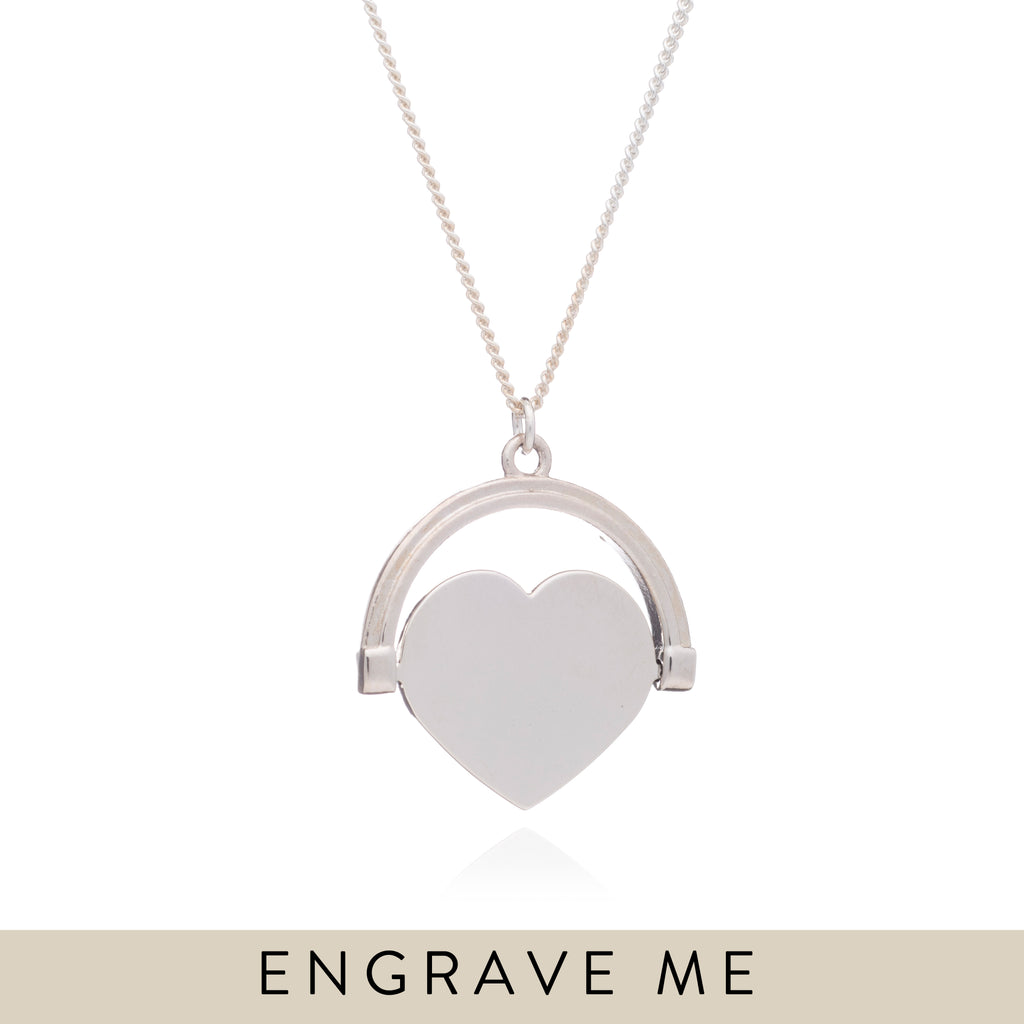 order any name! Rachel name necklace heart pendant and chain sterling silver