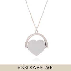 Personalised Spinning Heart Necklace