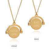 Spinning gold pendant necklace mini Rachel Jackson London
