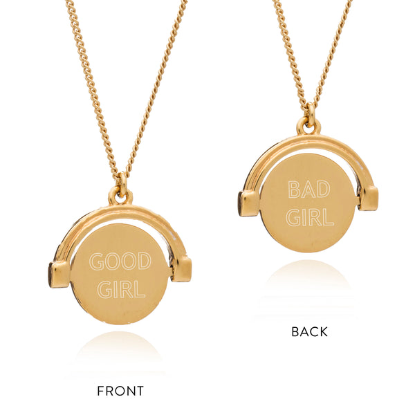 Good Girl, Bad Girl Mini Spinner Necklace