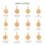 Moon Birth Star Necklace - Gold