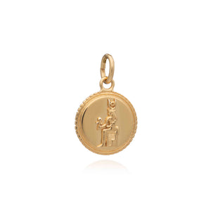 Ancient Coin Charm - Gold