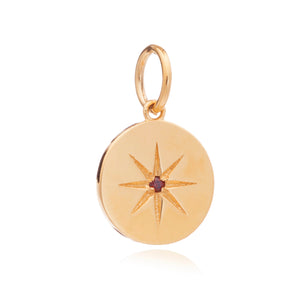 January Birth Star Charm - Gold