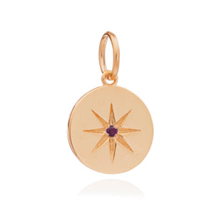 July Birth Star Charm - Gold