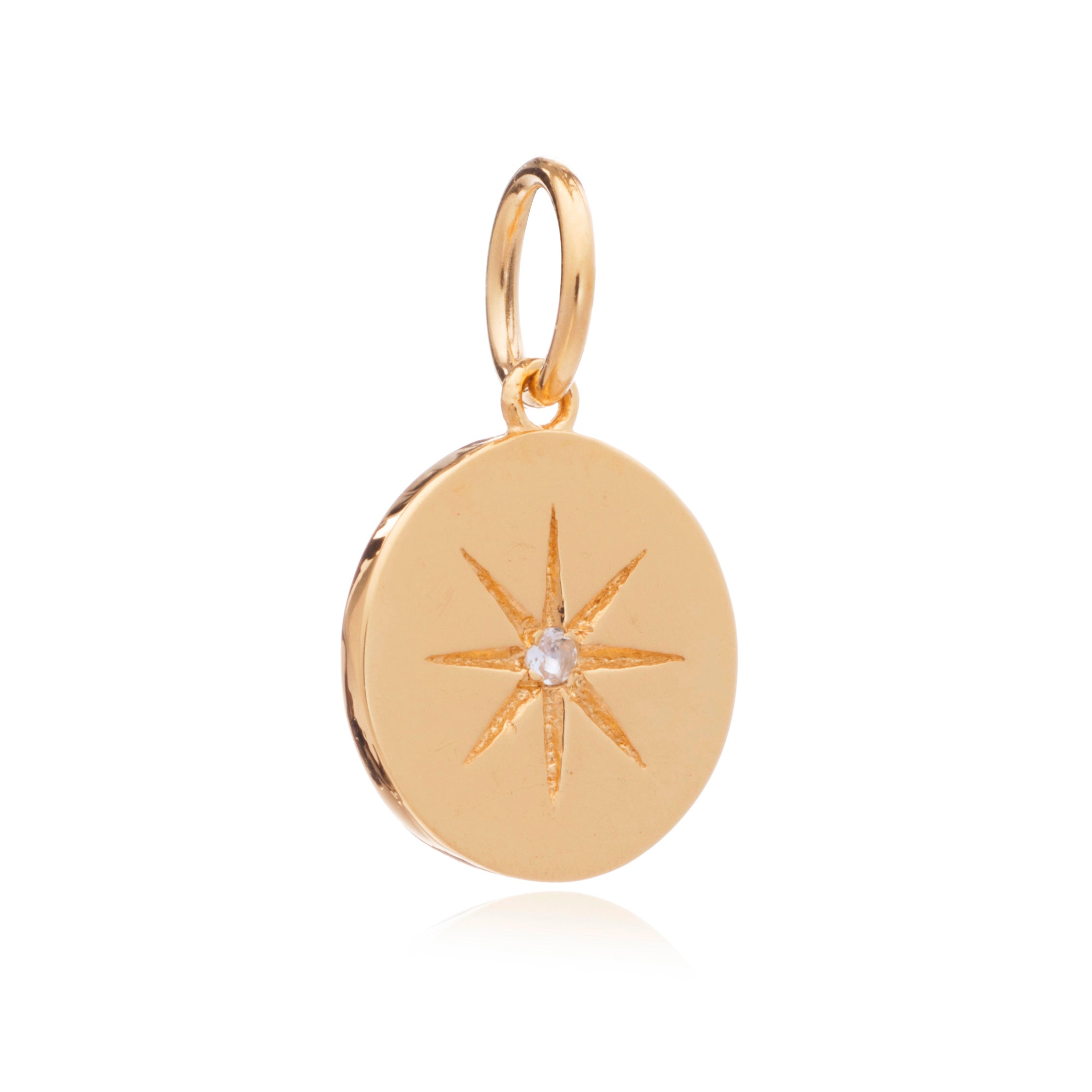 Mother of Daughters June Birthstone disc charm gold Rachel Jackson London