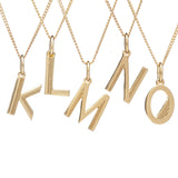 Initial necklace gold Rachel Jackson London