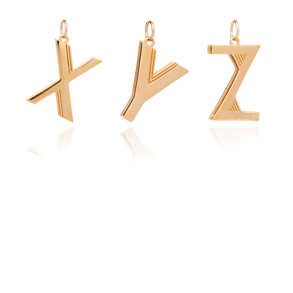 Statement Initial Necklace - Gold