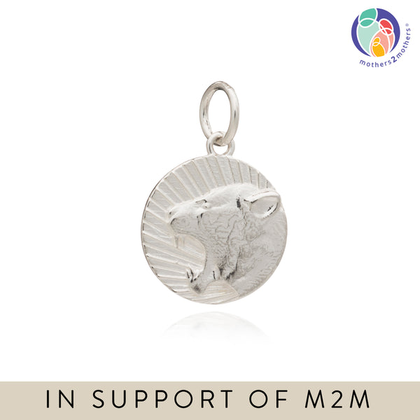 Mother of Daughters Lioness Charm - Silver