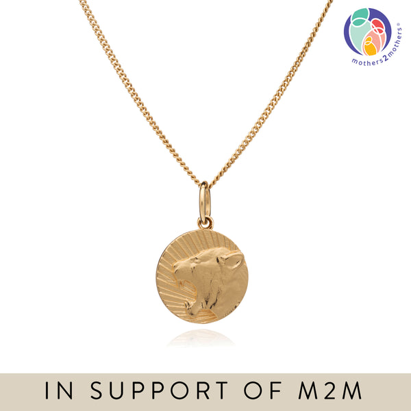 Mother of Daughters Lioness Charm Necklace - Gold