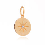 Mother of Daughters March Birthstone disc charm gold Rachel Jackson London