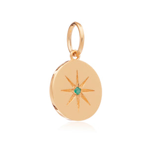 May Birth Star Charm - Gold