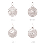 Zodiac Art Coin Star Bangle - Silver