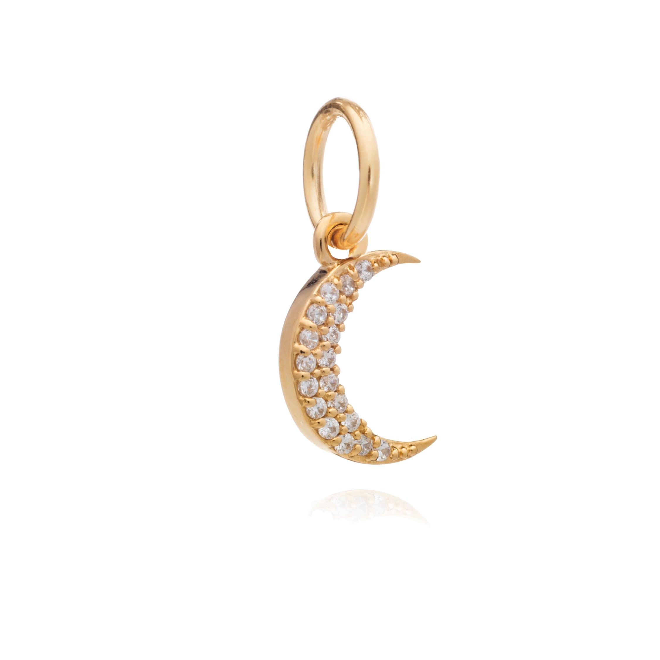 Mother of Daughters Moon charm gold Rachel Jackson London