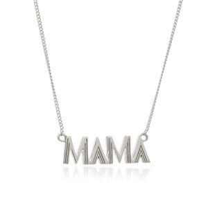 Art Deco Mama Necklace - Silver