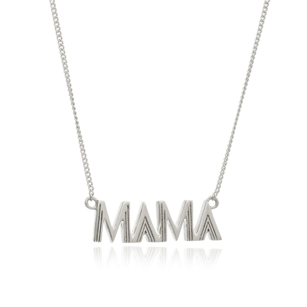 Mama necklace silver Rachel Jackson London