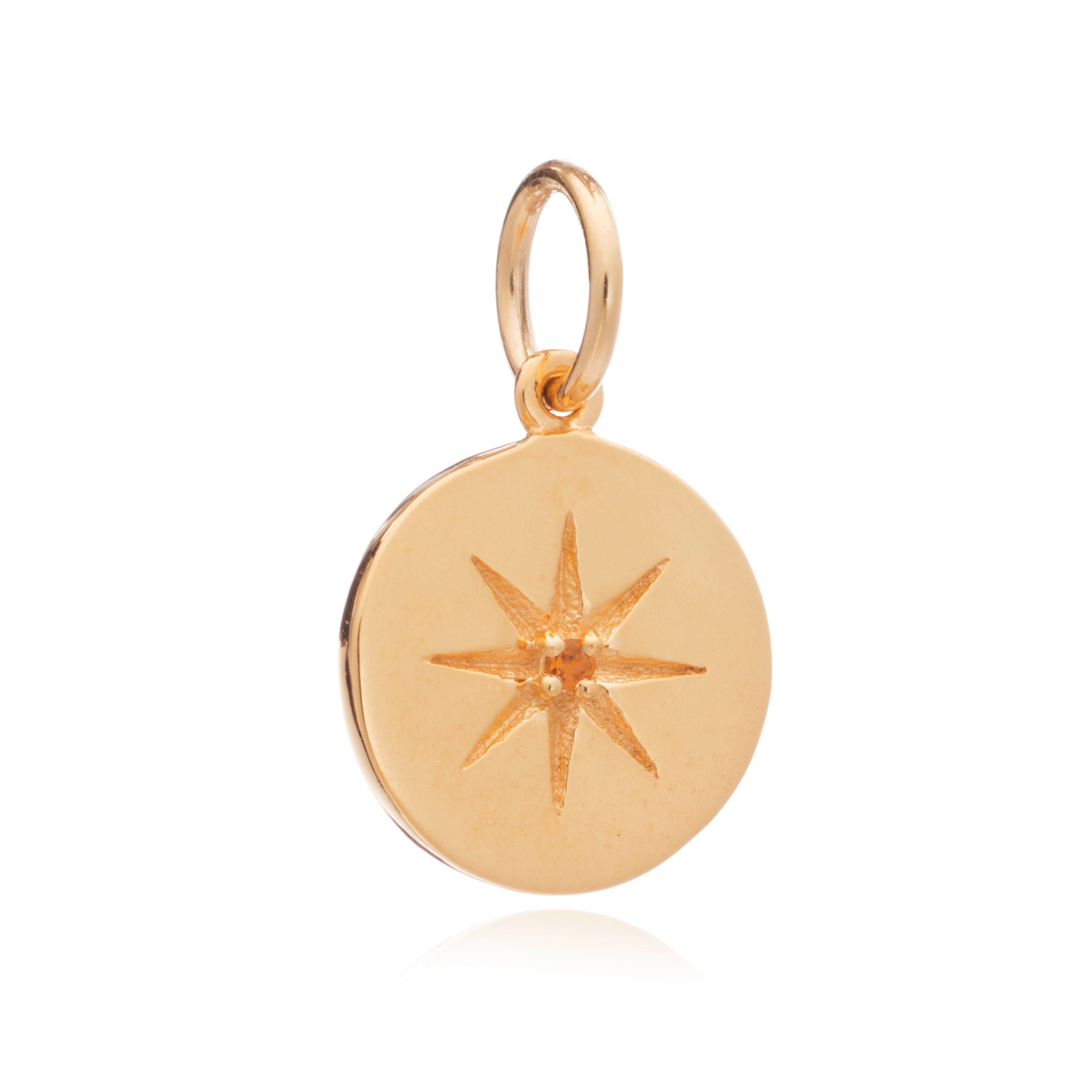 Mother of Daughters November Birthstone disc charm gold Rachel Jackson London