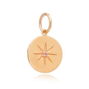 October Birth Star Charm - Gold