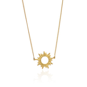 Electric Goddess Mini Sun Necklace - Gold