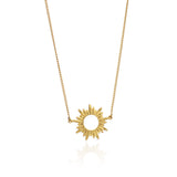 Sun pendant chain necklace gold Rachel Jackson London
