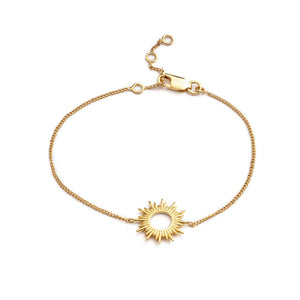 Electric Goddess Sun Bracelet - Gold