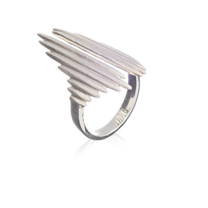 Electric Goddess Statement Ring - Silver