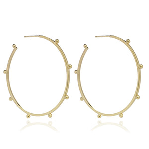 Oversized Punk Hoop Earrings - Gold