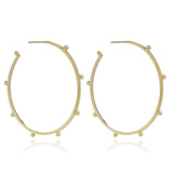 Large studded hoops gold Rachel Jackson London
