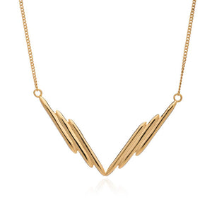 Electric Goddess Sun Rays Necklace - Gold