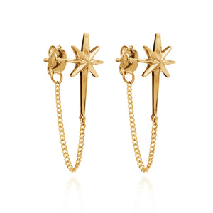 Rockstar Chain Earrings - Gold