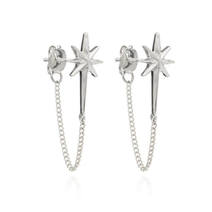 Rockstar Chain Earrings - Silver