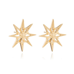 Rockstar Statement Stud Earrings - Gold