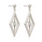 Nova Star Earrings Silver