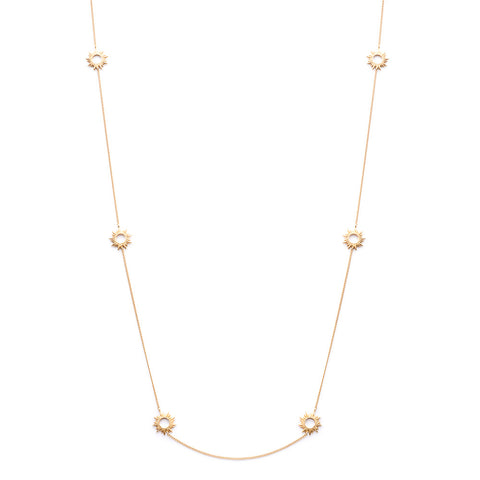 Multi Sunrays Chain Necklace