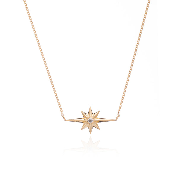 Diamond star necklace gold Rachel Jackson London