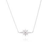 Diamond star necklace silver Rachel Jackson London
