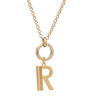 Statement Initial Necklace - Long