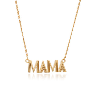 Art Deco Mama Necklace - Gold