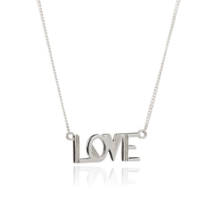 Art Deco Love Necklace - Silver