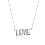 Love necklace silver Rachel Jackson London
