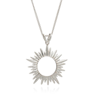 Electric Goddess Necklace Mid-Length in Silver