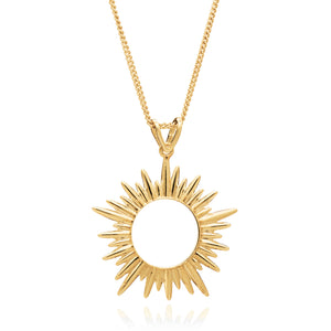 Electric Goddess Necklace Mid-Length in Gold