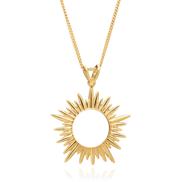 Medium Gold Sun Necklace Rachel Jackson London