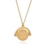 """Good Girl / Bad Girl"" Mini Spinning Necklace - Gold"