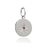 Mother of Daughters October Birthstone disc charm silver Rachel Jackson London