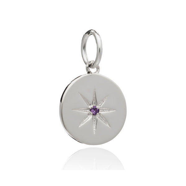 Mother of Daughters Birth Star Charm - February