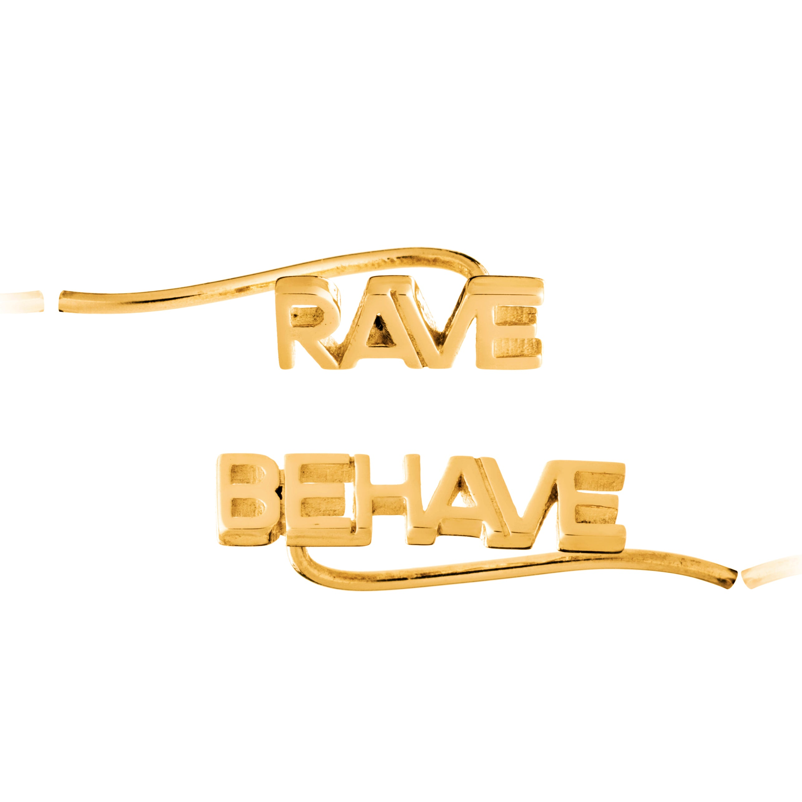 Ear crawler earrings gold rave behave Rachel Jackson London