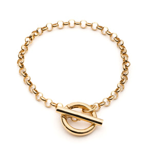 Belcher T-Bar Bracelet - Gold