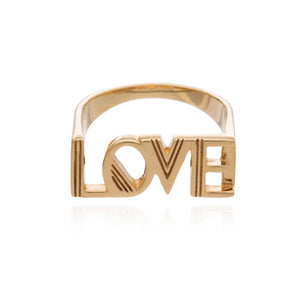Art Deco Love Ring - Gold